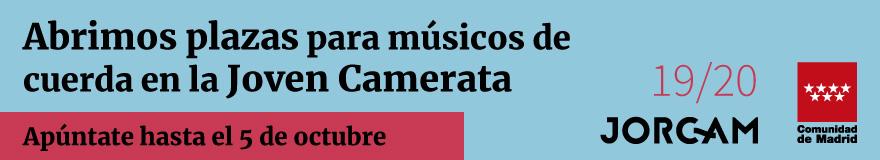 Banner horizontal que anuncia las pruebas de la Joven Camerata de la Comunidad de Madrid