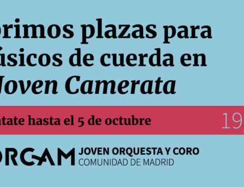 Admitidos Camerata octubre 2019