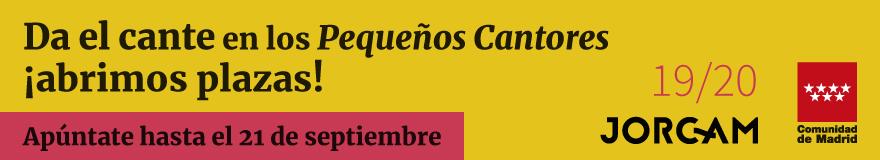 Banner horizontal que anuncia las pruebas de los Pequeños Cantores de la Comunidad de Madrid