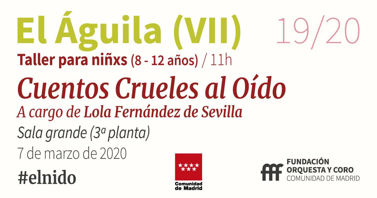 imagen del taller Cuentos Crueles al Oído Orquesta y Coro de la Comunidad de Madrid