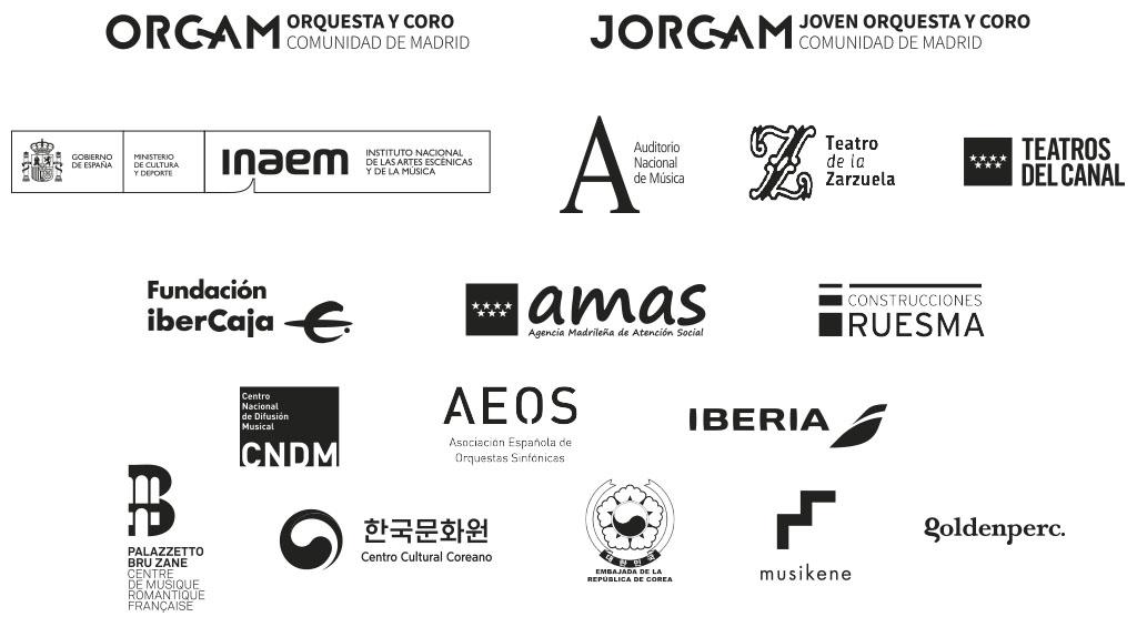 Patrocinadores de la Fundación Orquesta y Coro de la Comunidad de Madrid