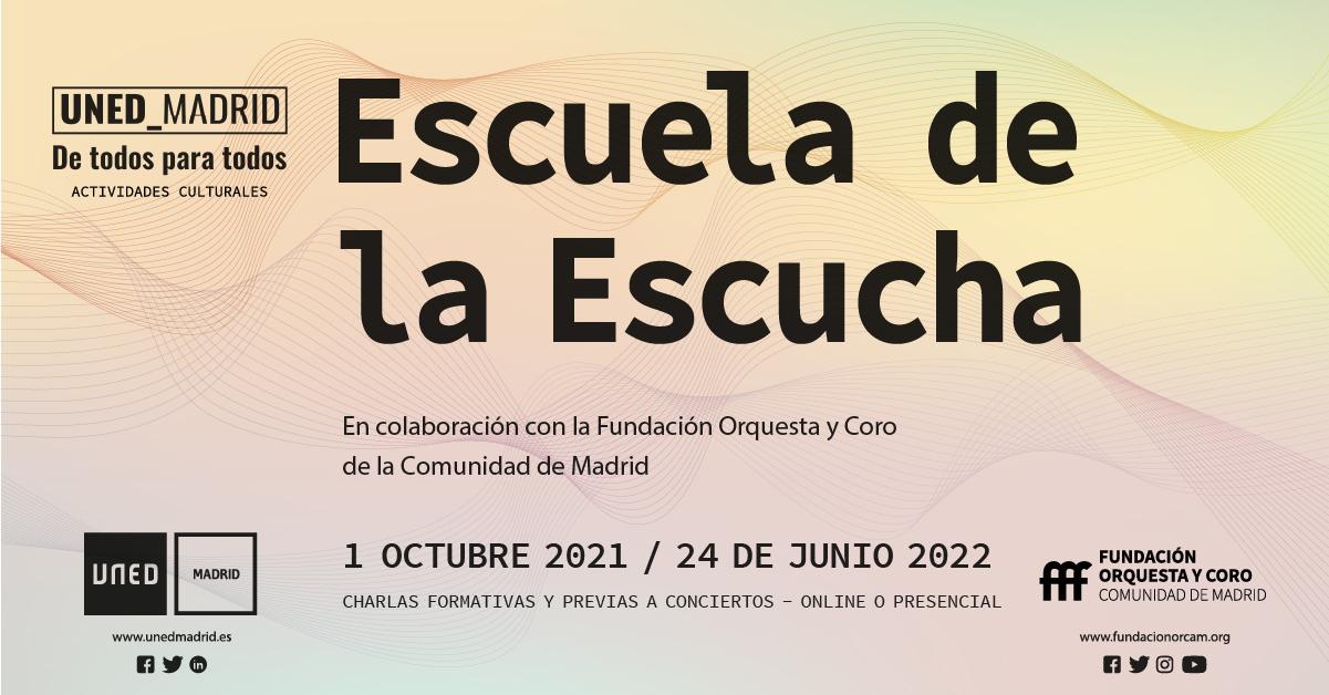 Imagen del cartel de la Escuela de la Escucha 21-22
