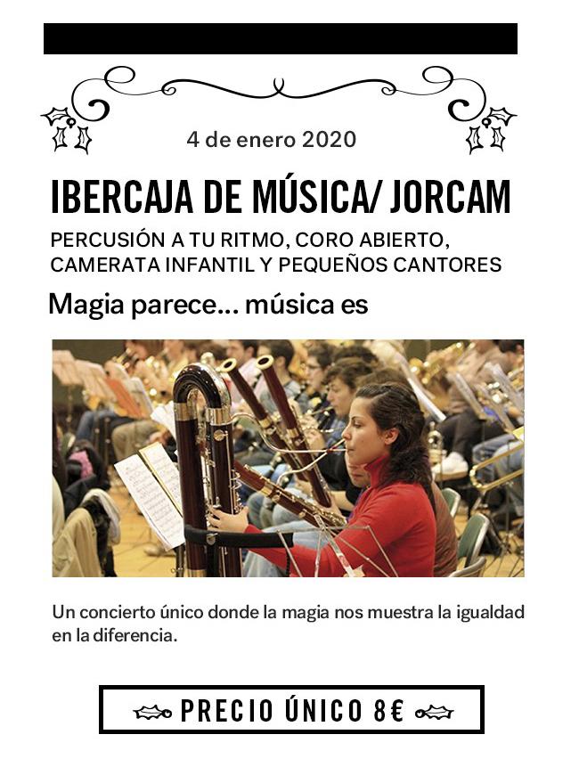 Cartel Ibercaja Teatros del Canal concierto 4 de enero, JORCAM