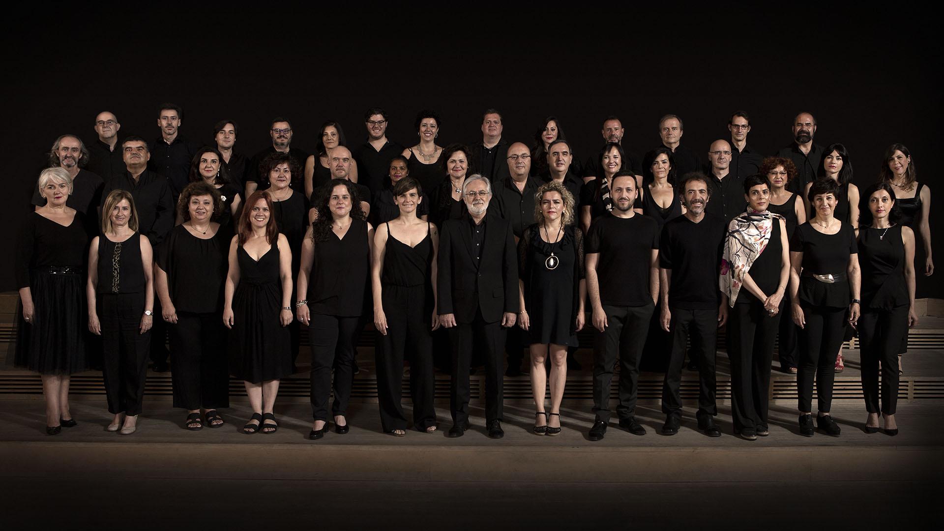 Foto de grupo del Coro de la Comunidad de Madrid